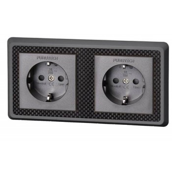 Furutech FT-SWS-D(R). Double Recessed Power connector.