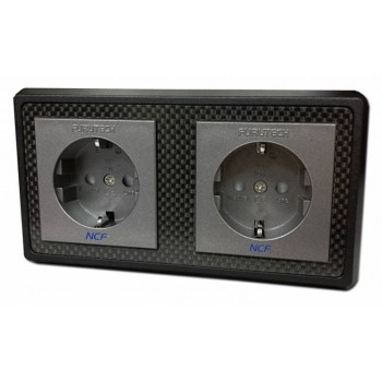 Furutech FT-SWS-D-NCF(R). Double Recessed Power connector.